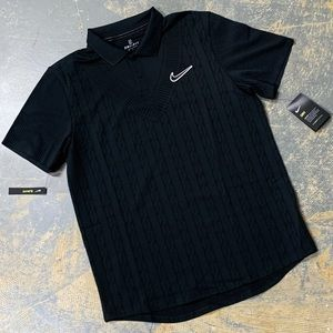Nike Court Polo Shirt Black AT4146-010 Large